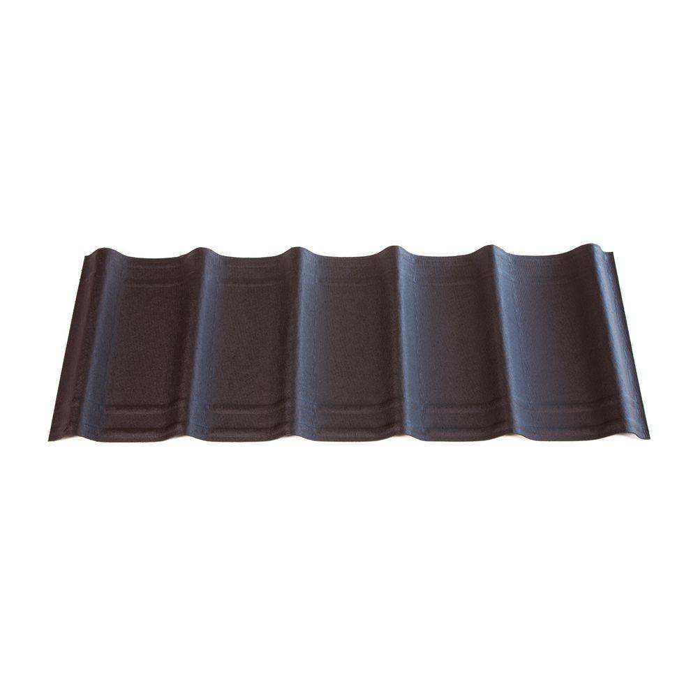 42 in. x 16 in. x 1.6 in. Ebony Black Asphalt
