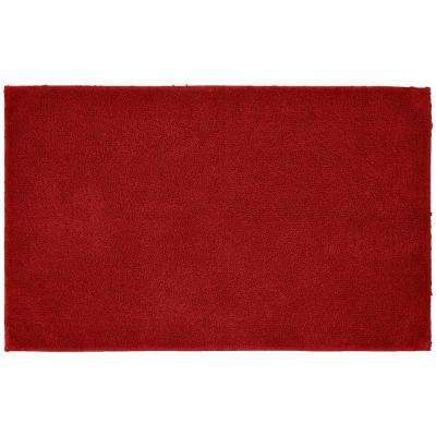 Queen Cotton Chili Pepper 24 in. x 40 in. Washable Bathroom Accent Rug