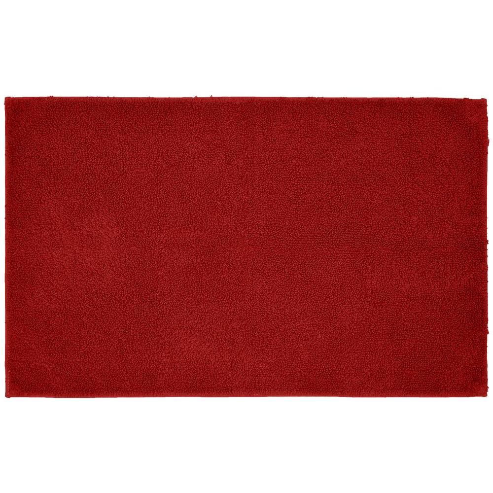 Red Bath Mat 24 X 40 Queen Cotton Rubber Baking Washable Bathroom