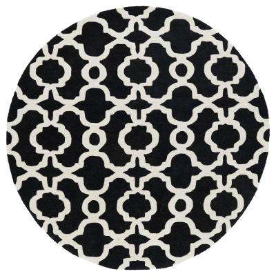 Revolution Black 12 ft. x 12 ft. Round Area Rug