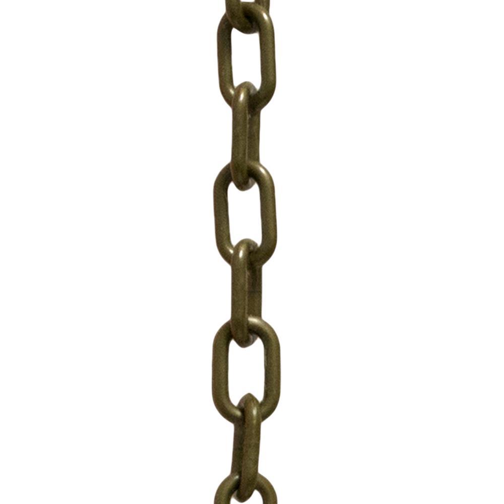 2 in. (#8, 51 mm) x 50 ft. Khaki Gold Plastic Chain