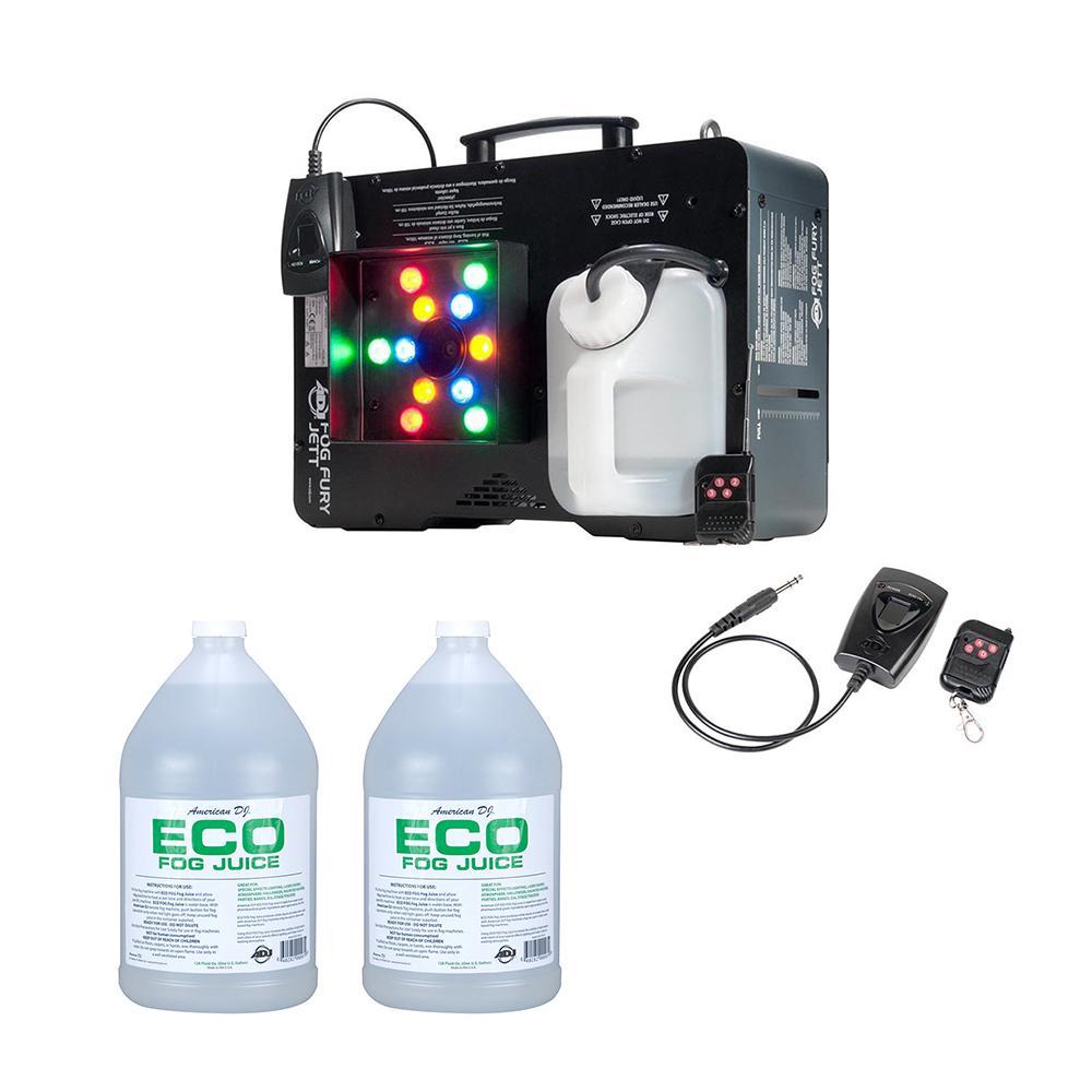 2 Gal. Smoke Machine and LED Lights plus Eco-Fog Juice Fluid