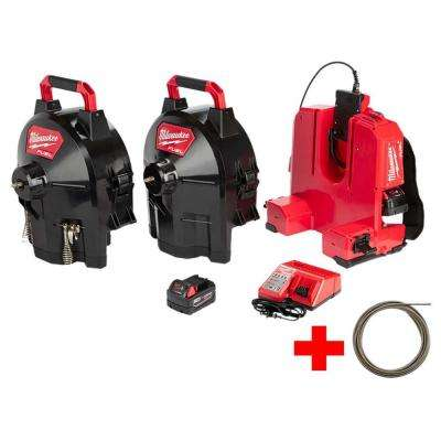 M18 FUEL 18-Volt Brushless Cordless Drain Cleaning 1/2 in. Sectional Drum System Kit W/ Free 5/8 in. x 50 ft. Cable