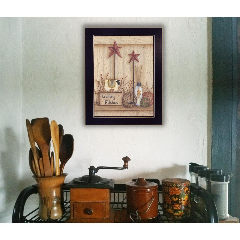 "Country Kitchen Wall Decor: 18 In. X 13 In. ""Country Kitchen"" By Mary June Printed"