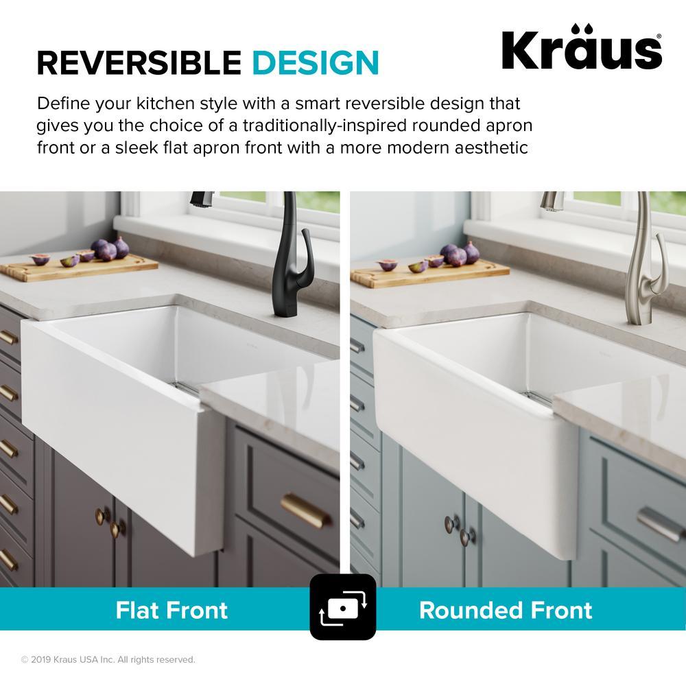 Kraus Turino Reversible Farmhouse A, Kraus Farmhouse Sink