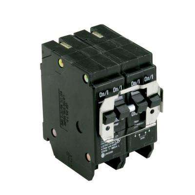 BR 1-30 Amp 2 Pole and 2-20 Amp 1 Pole  BQ (Independent Trip) Quad Circuit Breaker