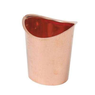 3 in. Half-Round Copper B Outlet
