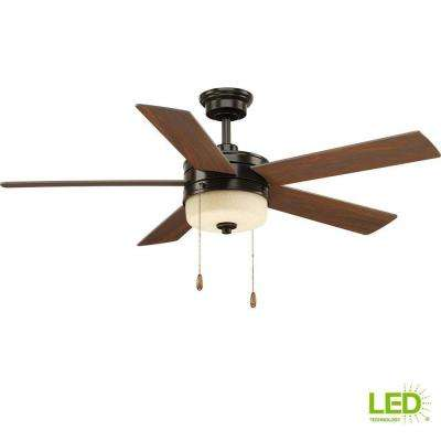 Verada 54 in. LED Indoor Antique Bronze Ceiling Fan with Light Kit