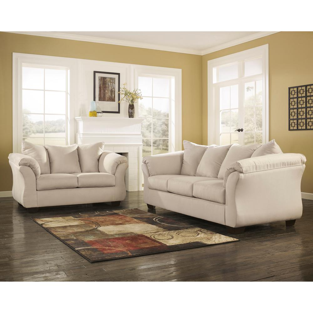 Flash Furniture Signature Design By Ashley Darcy 2 Piece Stone Fabric  Living Room Set