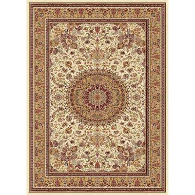 Williams Collection Tabriz Ivory 7 ft. 10 in. x 10 ft. 10 in. Area Rug
