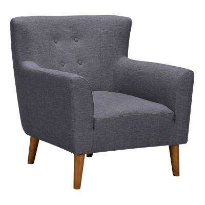 Hyland Dark Grey Fabric Accent Chair