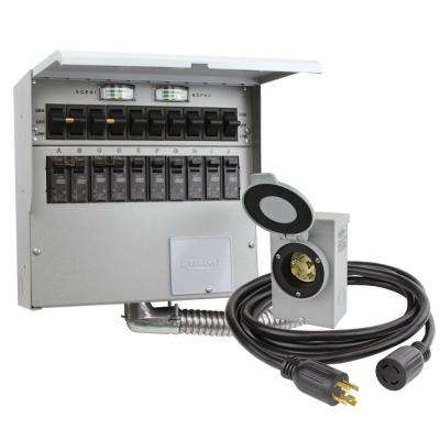 10-Circuit 30 Amp Manual Transfer Switch Kit