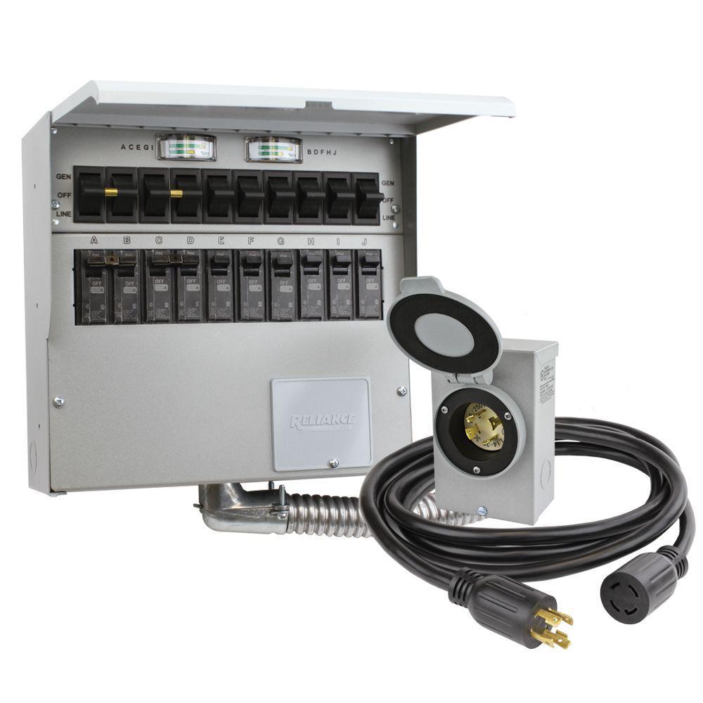 10circuit 30 amp manual transfer switch kit