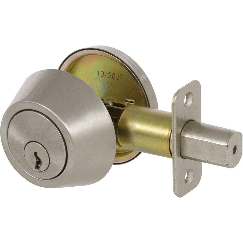 Merveilleux Delaney Callan Single Cylinder Satin Nickel Deadbolt