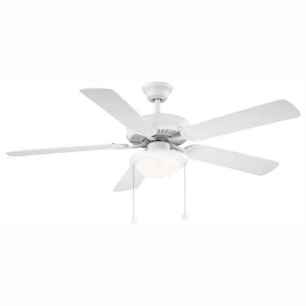 Trice 52 in. LED Matte White Ceiling Fan
