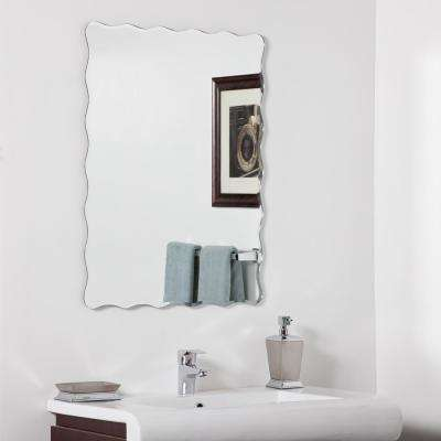 31.5 in. x 23.6 in. Rectangle Angelina Modern Bathroom Mirror with Beveled Edge