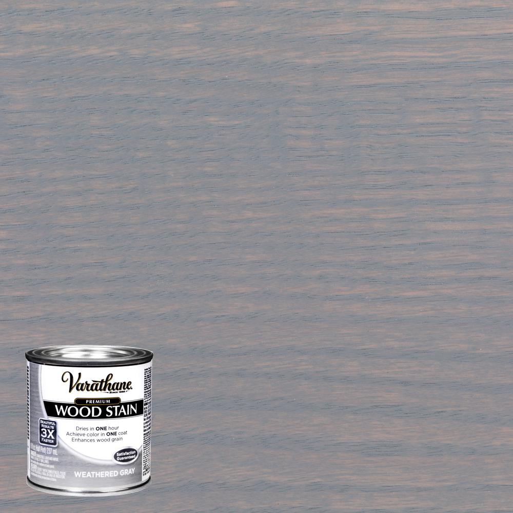 Varathane 8 oz. Weathered Gray Premium Fast Dry Interior Wood Stain