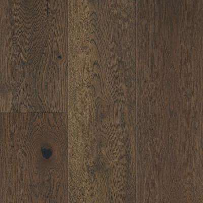 Waterproof Flooring Khaki Brown Oak 6.5 mm T x 6.5in.W x 48in.L Click Engineered Hardwood Flooring (21.67 sq.ft./case)