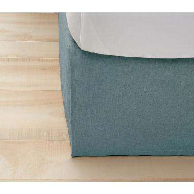Monroe Aqua Blue King Bed Skirt