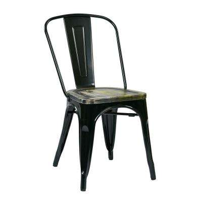 Bristow Black and Ash Cameron Metal/Wood Side Chair (Set of 4)