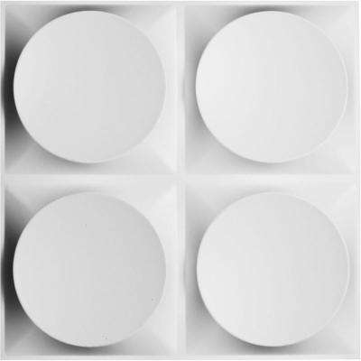 1 in. x 19-5/8 in. x 19-5/8 in. PVC White Adonis EnduraWall Decorative 3D Wall Panel