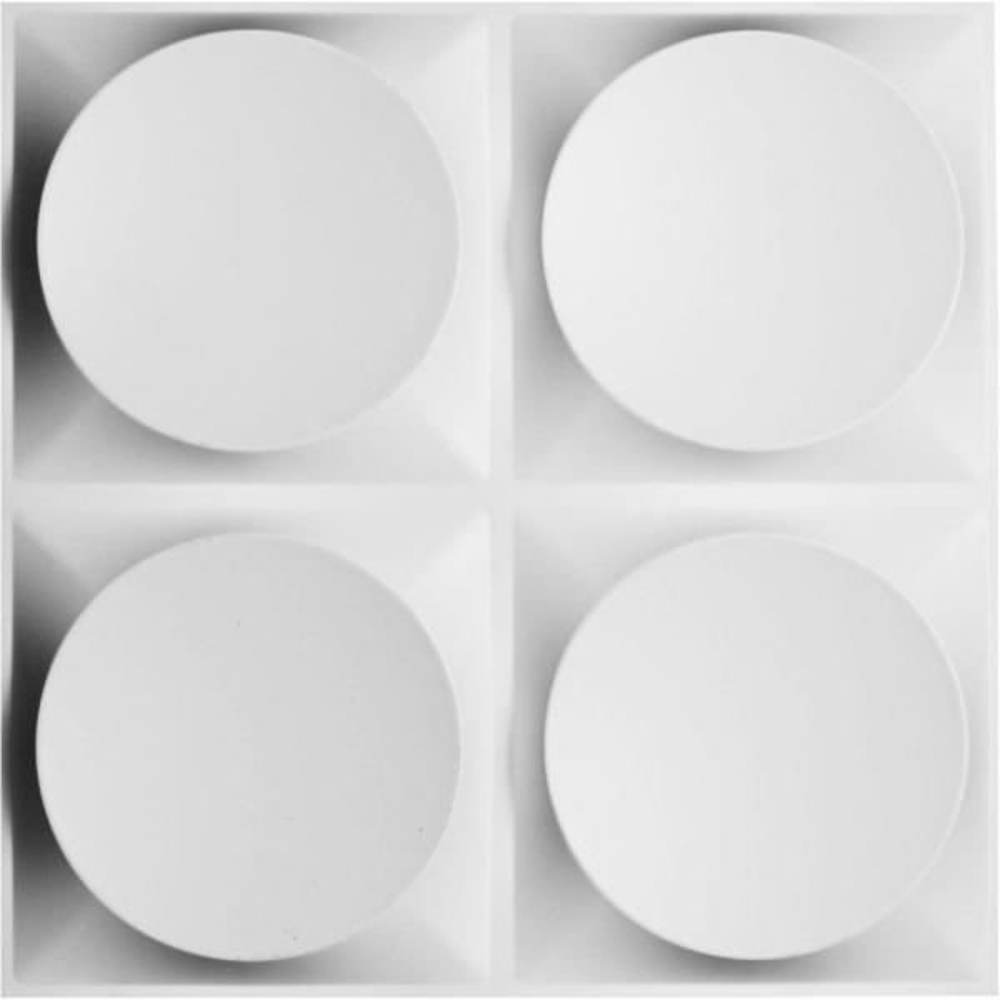 19 5//8W x 19 5//8H White 10 Each Ekena Millwork WP20X20PRWH-CASE-10 Primrose EnduraWall Decorative 3D Wall Panel