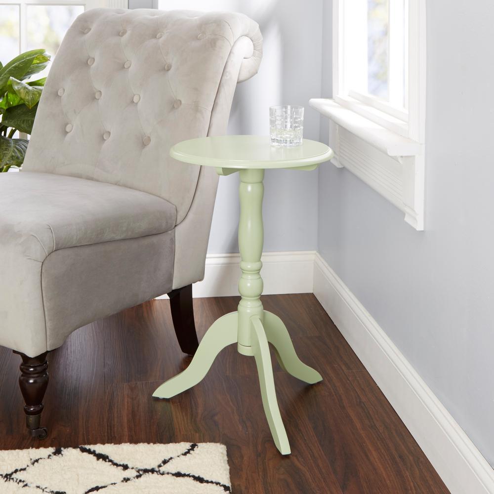 Celia Green Pedestal End Table
