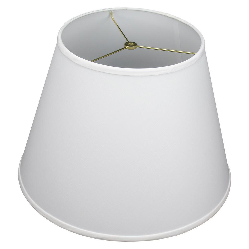 11 in. Top Diameter x 18 in. Bottom Diameter x 13 in. Slant Linen White Empire Lamp Shade