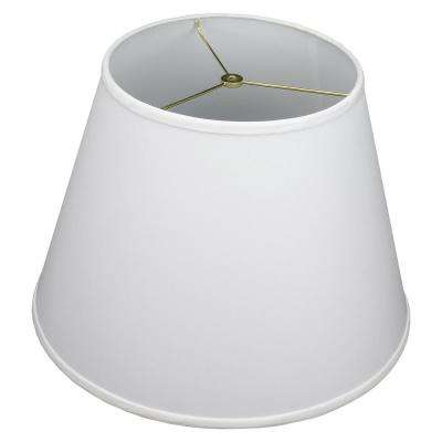 11 in. Top Diameter x 18 in. Bottom Diameter x 13 in. Slant Linen White Empire Lamp Shade