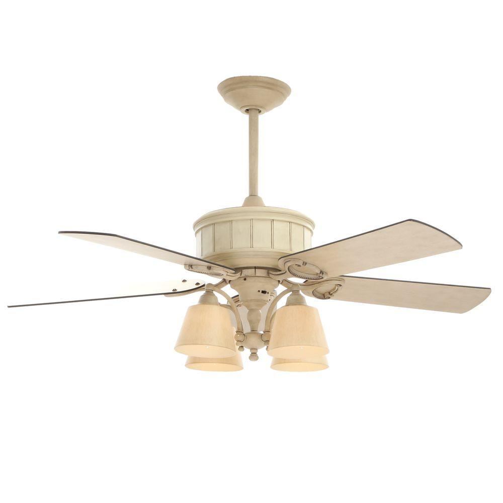 hampton bay torrington 52 in indoor cottage wood ceiling fan with light kit and remote control. Black Bedroom Furniture Sets. Home Design Ideas