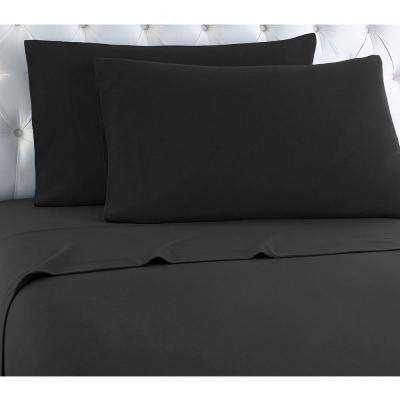 Twin XL 3-Piece Charcoal solid Sheet set