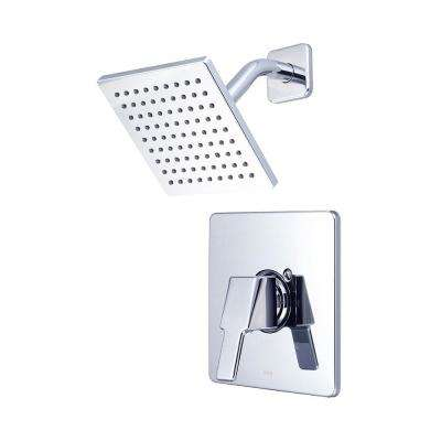 i3 1-Handle Wall Mount Shower Trim Kit in Polished Chrome with 6 in. Square Showerhead (Valve Not Included)
