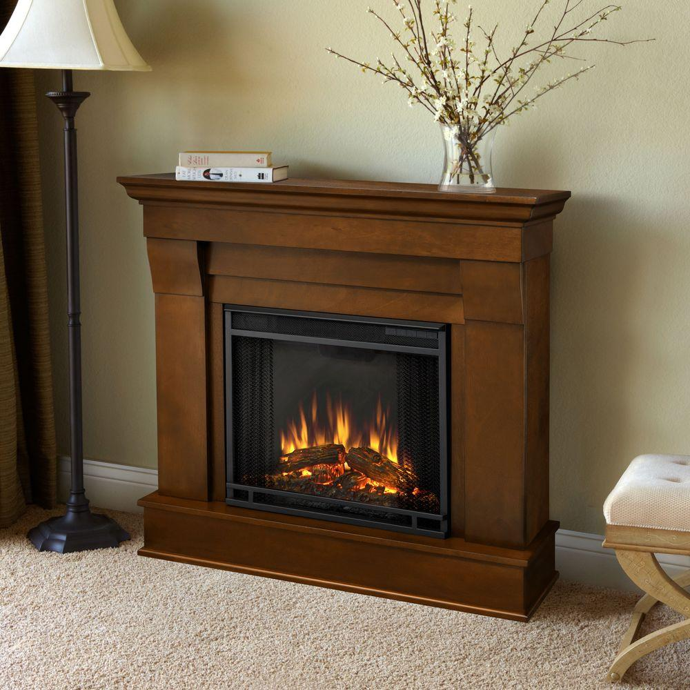 Visit The Home Depot to buy Real Flame Chateau 41 in. Electric Fireplace in Dark Walnut 5910E-DW