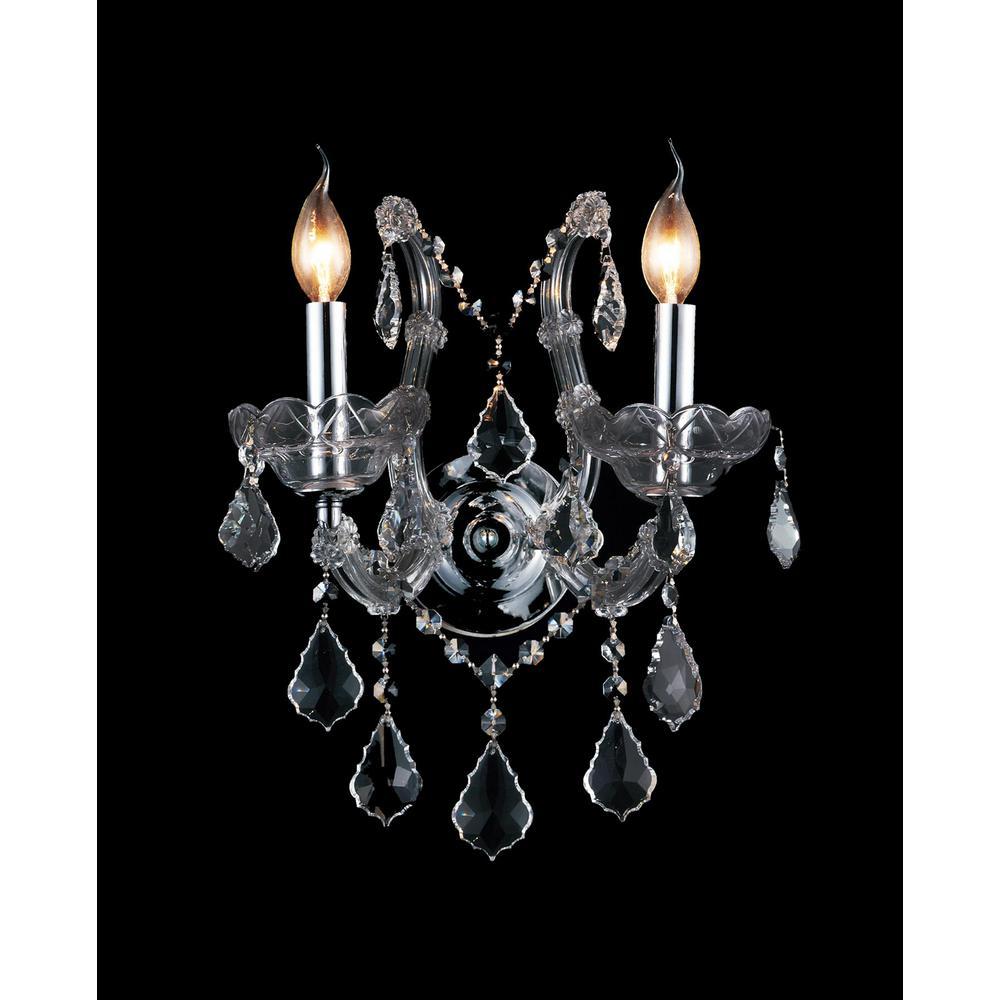Maria Theresa 2-Light Chrome Sconce