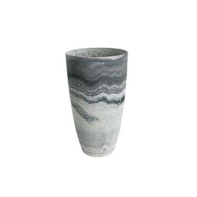 11.5 in. D in. x 20 in. H Marble Plastic Curved Tall Vase