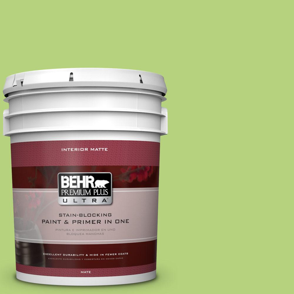 5 gal. #420B-4 Tart Apple Flat/Matte Interior Paint