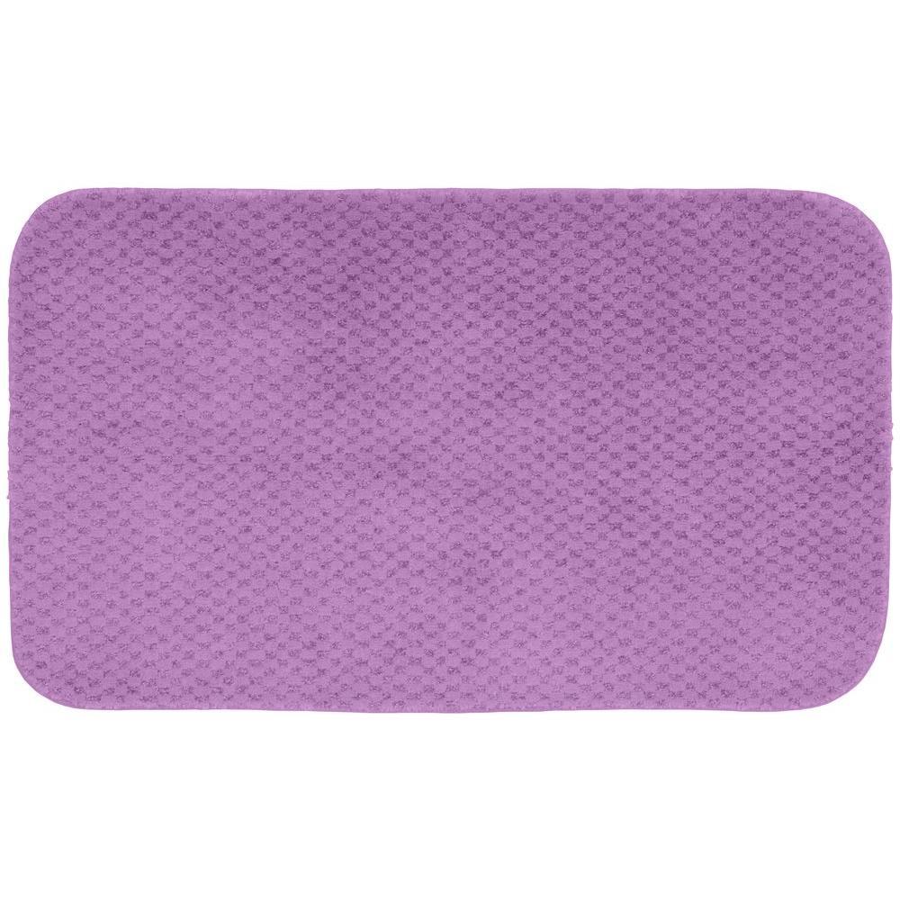 Garland Rug Cabernet Purple 24 inch x 40 inch Washable Bathroom Accent Rug by Garland Rug