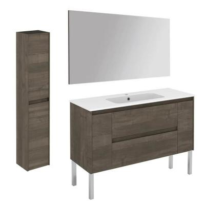 Ambra 47.5 in. W x 18.1 in. D x 32.9 in. H Bathroom Vanity Unit in Samara Ash with Mirror and Column