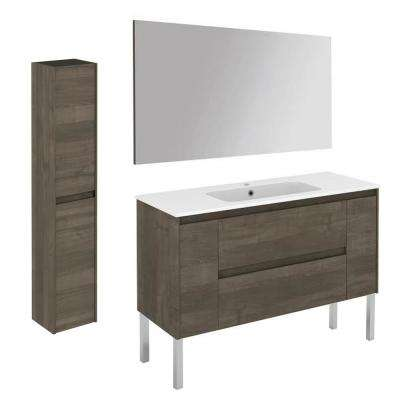 47.5 in. W x 18.1 in. D x 32.9 in. H Bathroom Vanity Unit in Samara Ash with Mirror and Column