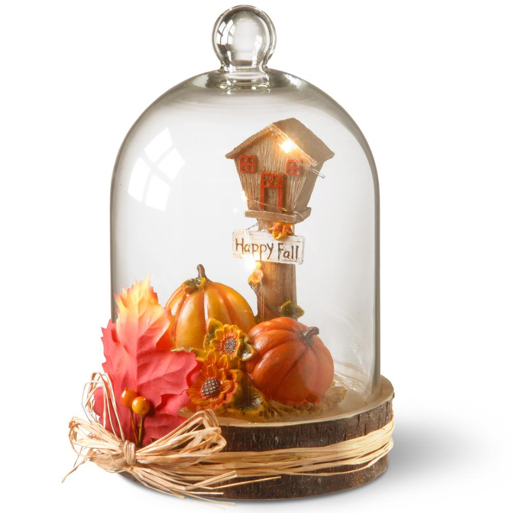 9 in. Lighted Autumn Decor Piece