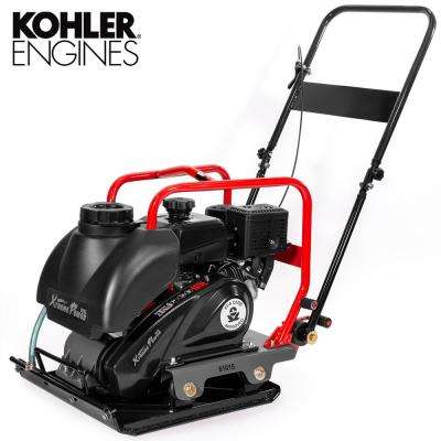 6 HP 208 cc Kohler Gas Engine Vibratory Plate Compactor with 3.15 Gal. Water Tank, 3000 lbs. Compaction Force