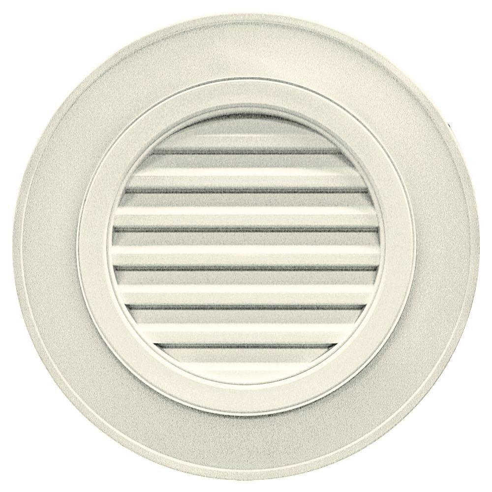 28 in. Round Gable Vent in Linen (without Keystones)