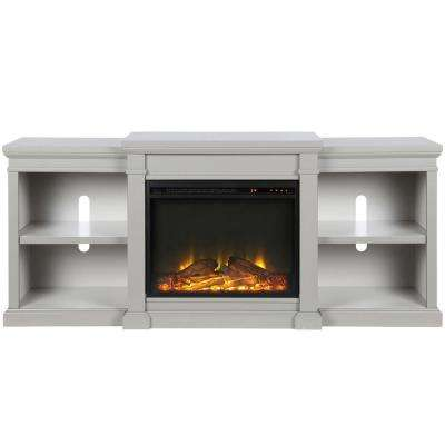 Paynes Gray Electric Fireplace 70 in. TV Stand