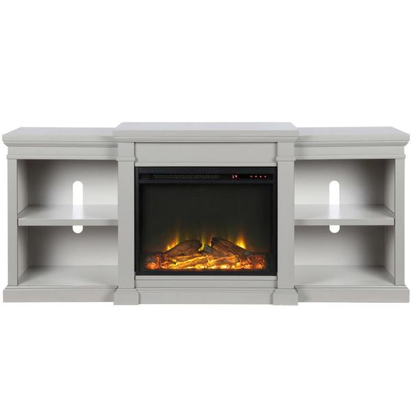 Ameriwood Home Paynes Gray Electric Fireplace 70 in. TV Stand HD51152