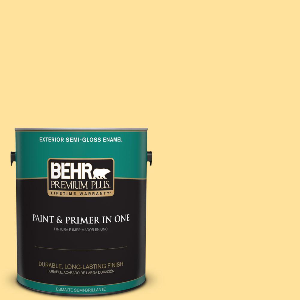 1-gal. #P290-3 Roasted Corn Semi-Gloss Enamel Exterior Paint