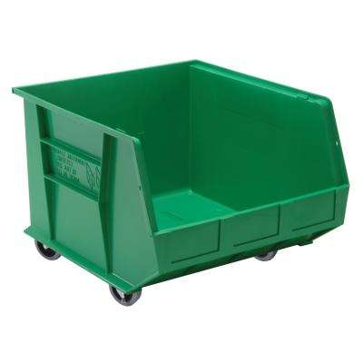 Ultra Series Stack and Hang 30 Gal. Storage Bin in Green (3-Pack)