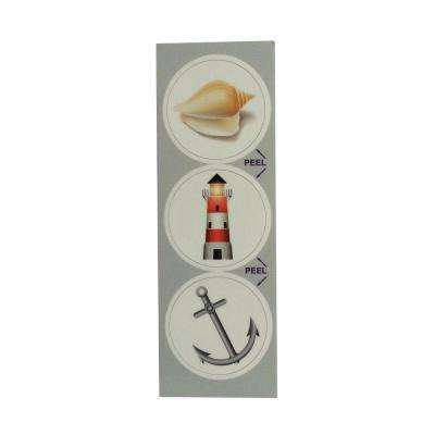 Nautical Decorative Bathroom Sink Stopper Laminates (Set of 3)