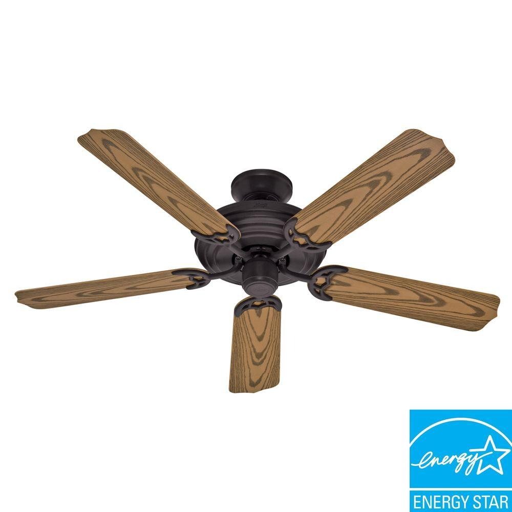 Hunter Sea Air 52 in. Indoor/Outdoor Weathered Bronze Ceiling Fan