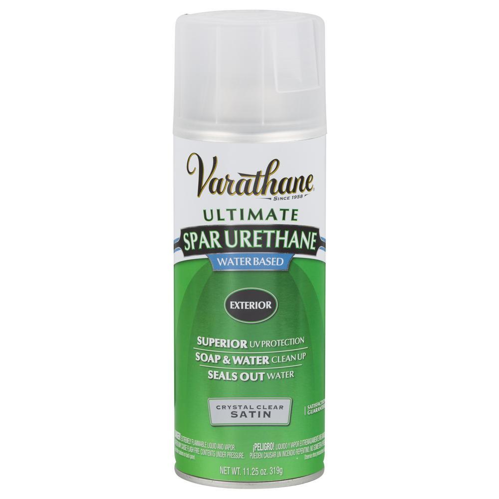 Varathane 11.25 oz. Clear Satin Spar Urethane Spray Paint (6-Pack)