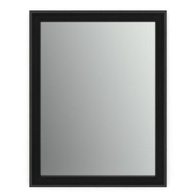 28 in. W x 36 in. H (M1) Framed Rectangular Standard Glass Bathroom Vanity Mirror in Matte Black